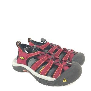 Keen Size 7.5 Red Waterproof Hiking Sandals